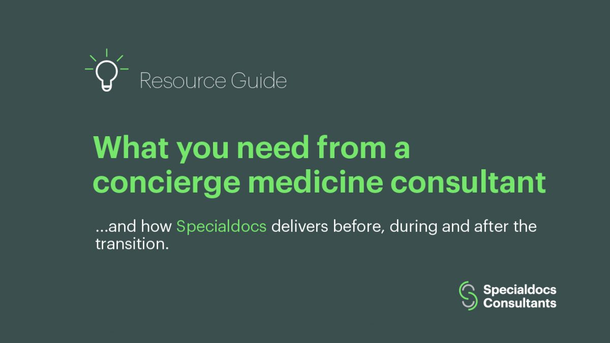 What you need from a consultant and how Specialdocs delivers