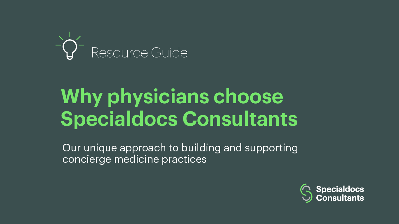 Why physicians choose Specialdocs Consultants